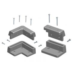 CAMEC SOLAR PANEL MOUNT KIT - 4 CORNER - 2 SIDE BRACKETS