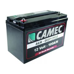 CAMEC 100AH LA AGM BATTERY  - FULLY SEALED