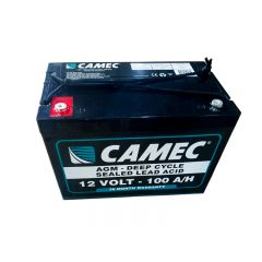 CAMEC 100AH LA AGM BATTERY  - FULLY SEALED