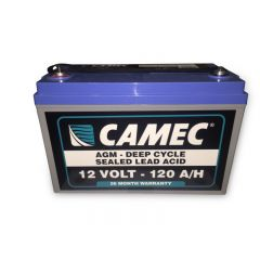 CAMEC 120AH SLA AGM BATTERY FULLY SEALED